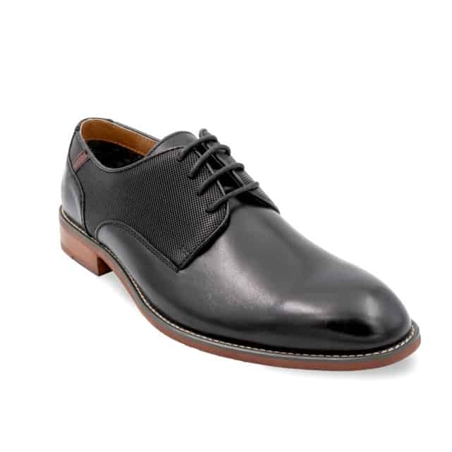 Black male smart dress shoe.
