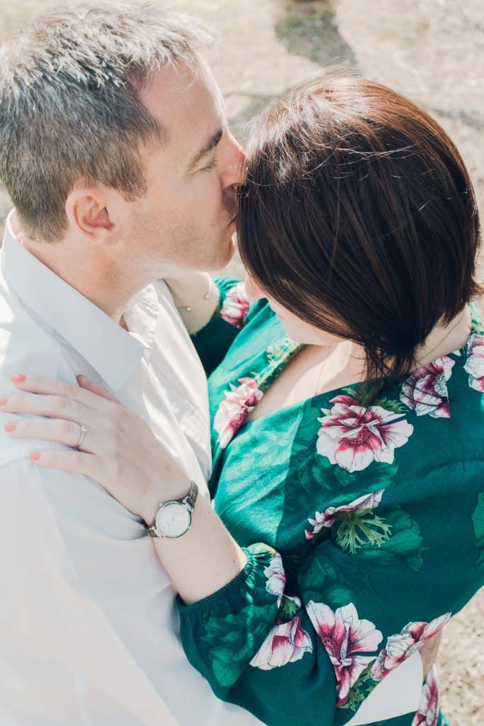 Couple with a kiss - lifestyle photography.