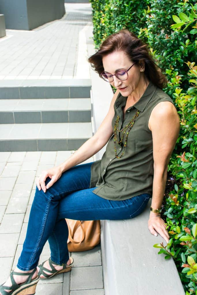 Lady with green shirt - personal branding photography